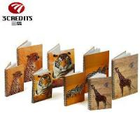 Wholesale A4/A5/B5 Black Double Spiral Notebook, Loose-Leaf Notebook with Animals from china suppliers