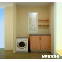 Wholesale Bamboo Laundry Room Storage Cabinet with High Gross Surface from china suppliers