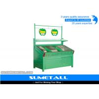 Wholesale Green Color Metal Display Shelving Units Display Stands For Fruit And Veg from china suppliers