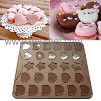 Wholesale Wholesale Heat Resistant Silicone Kitchenware Mat/30 Capacity Cartoon Macaron Baking Mat from china suppliers