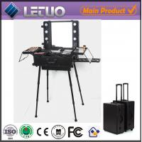 Wholesale cosmetic case makeup case with lights professional cosmetic trolley cases from china suppliers