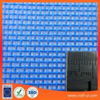 Quality Blue color Textilene is PVC Coated Polyester Mesh fabric for use in outdoor Venues for sale