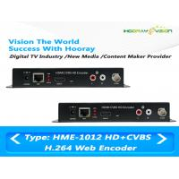 Wholesale MPEG-4 AVC / H.264 HDMI CVBS Video Digital TV Encoder Support Web Protocol from china suppliers
