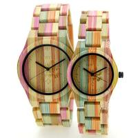 Wholesale Unisex Corlorful Bamboo Wrist Watch For Couples / Wooden Ladies Watches from china suppliers