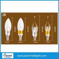 Wholesale 3 W Glass Shape Led Candle Lights / E14 Chandelier Led Candle Lamp CE from china suppliers