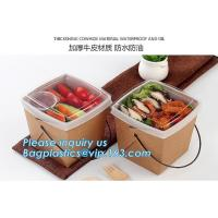 Wholesale Wholesale design disposable food packaging kraft paper lunch box for food,disposable takeout food packaging kraft paper from china suppliers