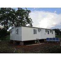 Sandwich Panel White Foldable Emergency Shelter / Steel Frame Foldable House