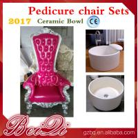 Buy cheap 2017 hot sale king throne pedicure chair round pedicure bowl price, Pink spa pedicure chairs for sale from wholesalers
