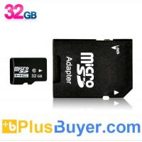 Wholesale 32GB Micro SD Card with Micro SD to SD Adapter (High Speed Class 10) from china suppliers