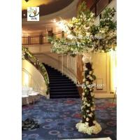 Wholesale UVG New design 3m White cherry blossom indoor artificial tree for wedding decoration from china suppliers