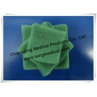 Buy cheap EU Standard Pre - cut Green Surgical Absorbent Cotton Gauze Pads Swab from wholesalers