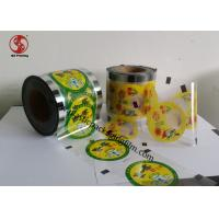 Quality Customized Food Grade Cup Sealing Film With Gravure Printing Bopp + Pe Structure for sale