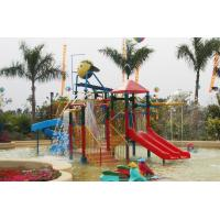 Wholesale Kids' Water House Playground Structures With Water Slide, Climb Net, Water Spray from china suppliers