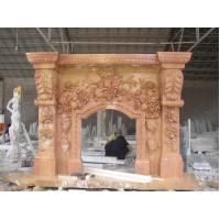 Wholesale Red Stone Carving Hot Sale Fireplace Mantel from china suppliers