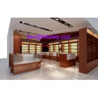 Buy cheap High end shop-in-shop jewellery display cabinets and timber veneer showcases from wholesalers