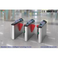 Wholesale DC 24V Wing Subway Turnstile Barrier Gate With Wide Lane For Luggage , SGS Approved from china suppliers