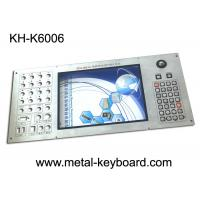 Wholesale Customizable Industrial Metal Keyboard Built in 30 buttons and 19mm trackball from china suppliers