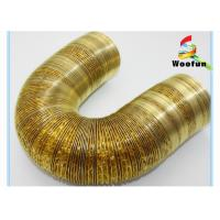 Wholesale Eco Friendly Gold Aluminum Flexible Duct , Fireproof Flexible AC Duct from china suppliers