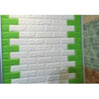 Wholesale White Embossed 3D Textured Brick WallpaperDecor Interior Moisture Proof from china suppliers