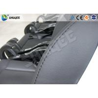 Wholesale Black / Red Genuine Leather 5D Movie Theater , Fiberglass Chair Electronic System from china suppliers