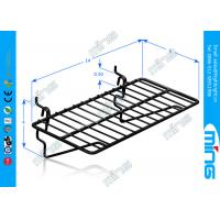 Wholesale Square Black Wire Display Baskets , Supermarket Flat Wire Display Shelf from china suppliers