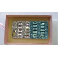 Buy cheap Diamond Customized Cellphone Case iPhone Handcrafted Silver And Blue from wholesalers