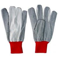 Wholesale 14oz soft and comfort Cotton Work Glove with red knit wrist  CTDP103 from china suppliers
