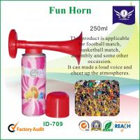 Wholesale Colored Plastic Horn For Basketball / Soccer Match 250ml , Fun Party Items from china suppliers