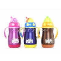 Wholesale Wide Neck Stainless Steel Straw Sippy Cup,Kids Stainless Steel Water Bottle Pink / Blue from china suppliers