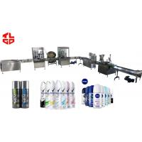 Wholesale Perfume Spray Aerosol Filling Line , Automatic Body Spray Aerosol Production Line from china suppliers