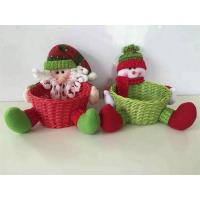 Wholesale New Life Style Lovely Plush Gift Basket for Christmas from china suppliers