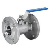 Wholesale DN15 Reduced Bore One Piece Ball Valve Flange End With Manual Operated from china suppliers
