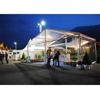 Restaurant Tent With Large Canopies, Clear Outdoor Event Tents With Transparent PVC Roof