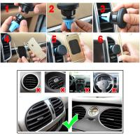 Quality Portable Magnetic Air Vent Mount iPhone 6S / 6 / 5s Samsung HTC LG MEIZU GPS for sale