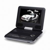 Wholesale Portable DVD Player with 7-inch TFT LCD and 270 Degrees Swivel Screen from china suppliers