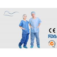 China Eco Friendly Scrub Suit For Men Around Neck Style CE / ISO Certification on sale