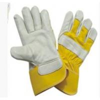 Wholesale Personalised Cow Split Leather Gloves With rubberized Cuff For Warehousing from china suppliers