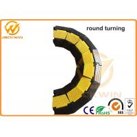 Quality Yellow / Black 2 Channel Rubber Corner Guard Rubber Cable Protection Ramps For Event for sale