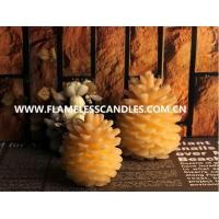 Wholesale Unique Design Flameless LED Wax Votive Candles , Ivory Christmas Pine Cone Candle from china suppliers