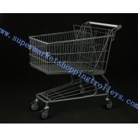 Wholesale American Lke Grocery Store Four Wheel Shopping Trolley Cart with Baby Seat from china suppliers