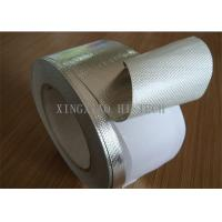 Wholesale Self Adhesive Fireproof Coated Fiberglass Fabric Tape , Aluminum One Side Coated Fiberglass from china suppliers