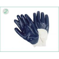 Wholesale Blue Nitrile Coated Industrial Protective Gloves With Fleeced Jersey Cotton Liner from china suppliers