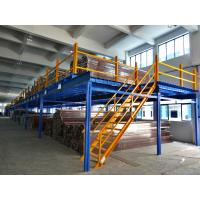 Wholesale Cold Rolling Steel Industrial Mezzanine Floors For Warehouse , Blue / Orange from china suppliers