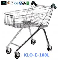 Wholesale Zinc Plated Low Carbon Steel UK Shopping Cart 100L European Style from china suppliers