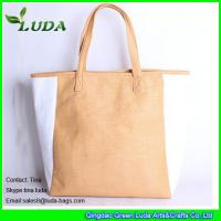 Wholesale striped paper straw bags lady oversized beach bags from china suppliers