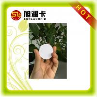 Wholesale LF / HF / UHF RFID Tag Plastic / Coated Paper Small Round 3M Glue Anti metal Material from china suppliers