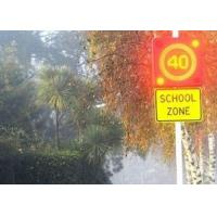 Quality High Brightness Road Electronic Speed Limit Signs , Led Display Board For School Safety Signs for sale