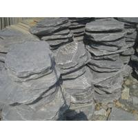 Wholesale Black Slate Stepping Stones Natural Slate Round Shape Garden Landscaping Stone Pavers from china suppliers