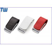 Wholesale Gadget Metal Body 32GB Pen Drives Leather Cover Magnet Connect from china suppliers