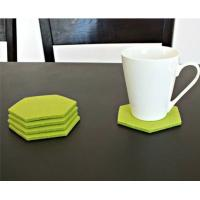 Wholesale high quality factory price custom laser cut felt cup mat/felt coaster from china suppliers